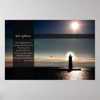Der Leuchtturm des Gottes - Plakat