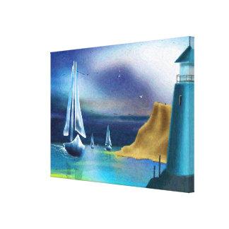 """""""Der Leuchtturm-"""" Kunst auf Leinwand"""