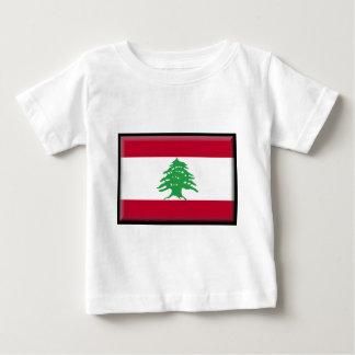 Der Libanon-Flagge Baby T-shirt