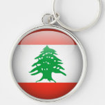 Der Libanon-Flagge großes erstklassiges Keychain Schlüsselband