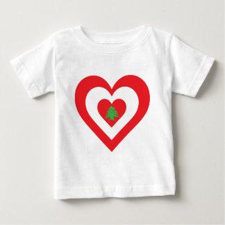 Der Libanon-Herz Baby T-shirt