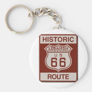 Der Libanon-Weg 66 Schlüsselanhänger