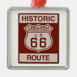 Der Libanon-Weg 66 Silbernes Ornament