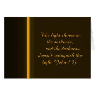 Der Licht-Glanz in der Dunkelheit Karte