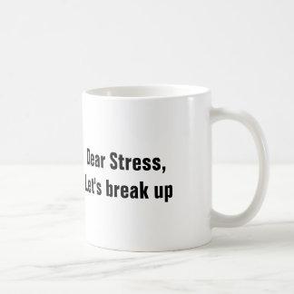 Der liebe Druck, gelassen uns brechen oben Kaffeetasse