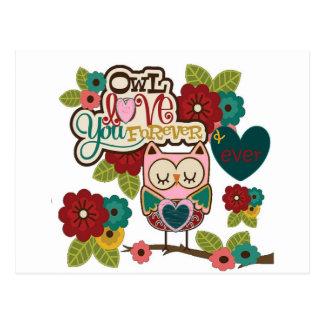 der Liebe Eule für immer Postkarte