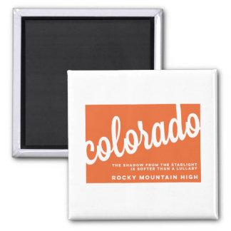 der Lied-Texte | Colorados | Orange Quadratischer Magnet