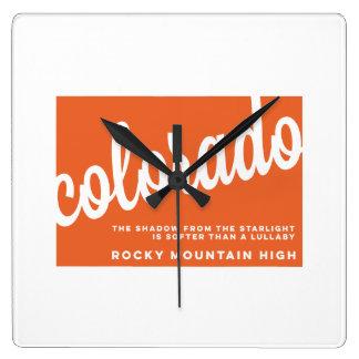 der Lied-Texte | Colorados | Orange Wanduhren