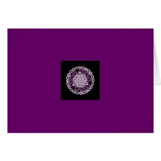 Der lila keltische Knoten Karte