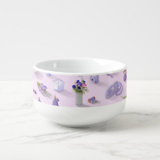 Der lila Traum des Mädchens Große Suppentasse