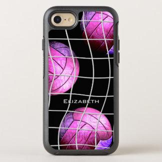 der lila Volleyball der Frauen des heißen Rosas OtterBox Symmetry iPhone 8/7 Hülle
