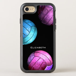 der lila Volleyball rosa turquois Frauen OtterBox Symmetry iPhone 8/7 Hülle