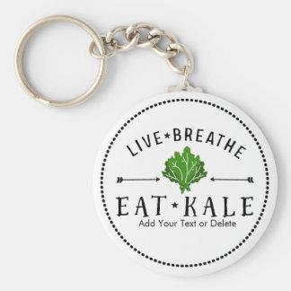 Der Live Kohl-Vegetarier atmen essen Standard Runder Schlüsselanhänger