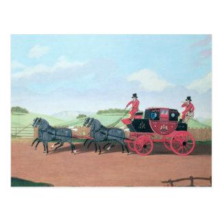 Der Liverpool- und LondonRoyal Mail Trainer, 1812 Postkarten