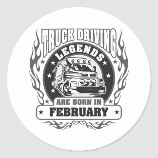 Der LKW, der Legenden fährt, sind im Februar Runder Aufkleber