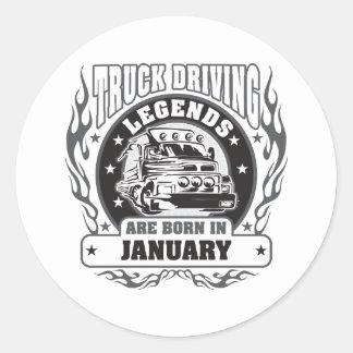 Der LKW, der Legenden fährt, sind im Januar Runder Aufkleber