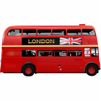 Der London-Rot-Bus Fotoskulptur Magnet