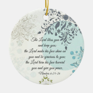 Der Lord Bless You, Zahl-6:24, Bibel-Weihnachten Keramik Ornament