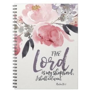 Der Lord ist mein Schäfer-Notizbuch Spiral Notizblock