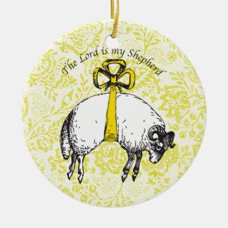 Der LORD ist mein Schäfer Psalm 23 Keramik Ornament