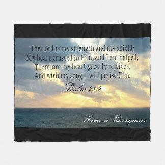Der Lord ist meine Stärken-Psalm-christliche Bibel Fleecedecke