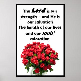 """Der Lord ist unsere Stärke - 12"""" x 18"""" Plakat"""