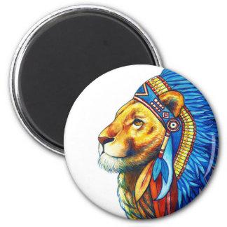 Der Löwe-Leiter Runder Magnet 5,1 Cm