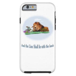 Der Löwe und die Lammkunst Tough iPhone 6 Hülle