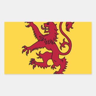 Der Löwe zügellos von Schottland Rechteckiger Aufkleber