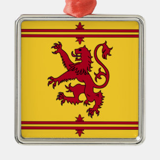 Der Löwe zügellos von Schottland Silbernes Ornament