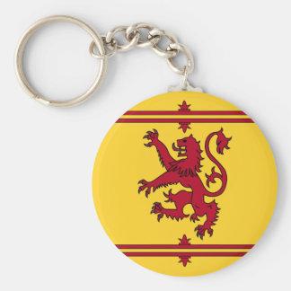 Der Löwe zügellos von Schottland Standard Runder Schlüsselanhänger