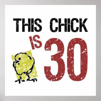 Der lustige 30 Geburtstag der Frauen Plakate
