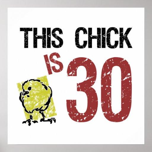Der lustige 30. Geburtstag der Frauen Plakate