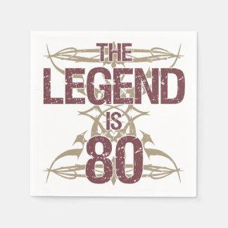 Der lustige 80. Geburtstag der Männer Serviette