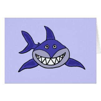 Der lustige Haifisch, der an Sie denkt, kardieren Grußkarte