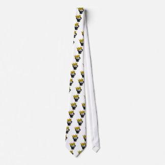 Der lustige Mops, der eine Krone PUGLIFE trägt, Krawatten