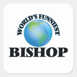Der lustigste Bischof der Welt Quadratischer Aufkleber