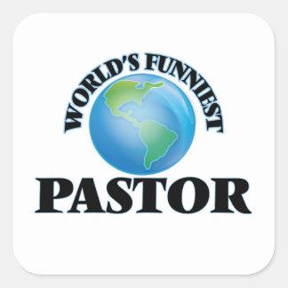 Der lustigste Pastor der Welt Quadratischer Aufkleber