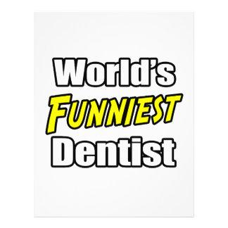 Der lustigste Zahnarzt der Welt 21,6 X 27,9 Cm Flyer