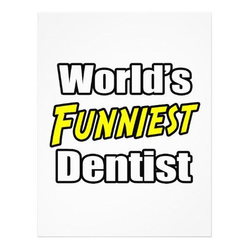 Der lustigste Zahnarzt der Welt Vollfarbige Flyer