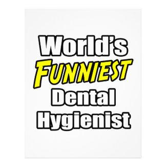 Der lustigste Zahnarzthelfer der Welt Vollfarbige Flyer