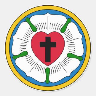 Der Luther RoseLutheranism Martin Luther Runde Aufkleber