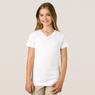 Der Mädchen verurteilen Jersey V-Hals T - Shirt