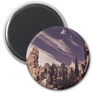 Der Magnet des Himmels die Grenze- Runder Magnet 5,7 Cm
