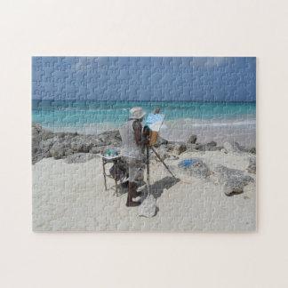 Der Maler auf dem Strand Barbados Puzzle