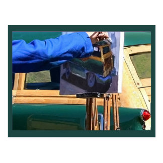 Der Maler Postkarte
