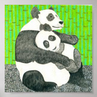 Der Mamma-und Baby-Panda durch Julia Hanna Poster