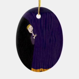 Der Mann hinter dem Vorhang Keramik Ornament