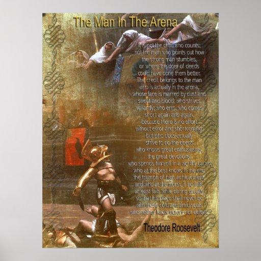"""""""Der Mann in der Arena"""" Theodore Roosevelt Poster"""
