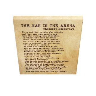 Der Mann in der Arena Theodore Roosevelt Vintag Leinwanddruck